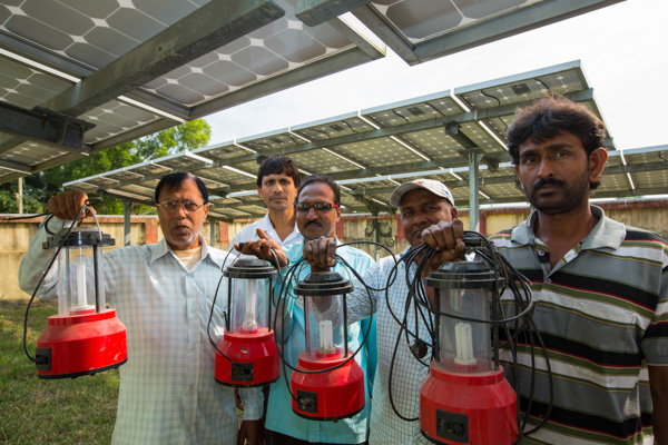 The microsolar plant set up by WWF in the Sundarbans delta region in India